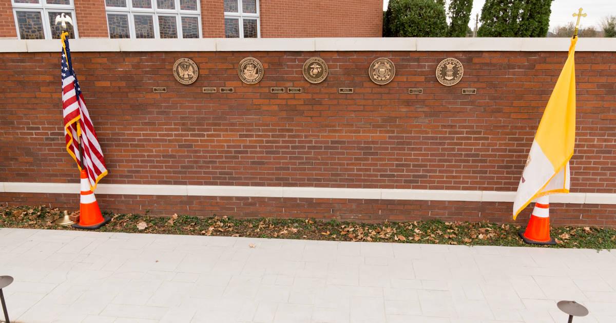 Military Memorial Wall Dedication - Holy Family Catholic Church