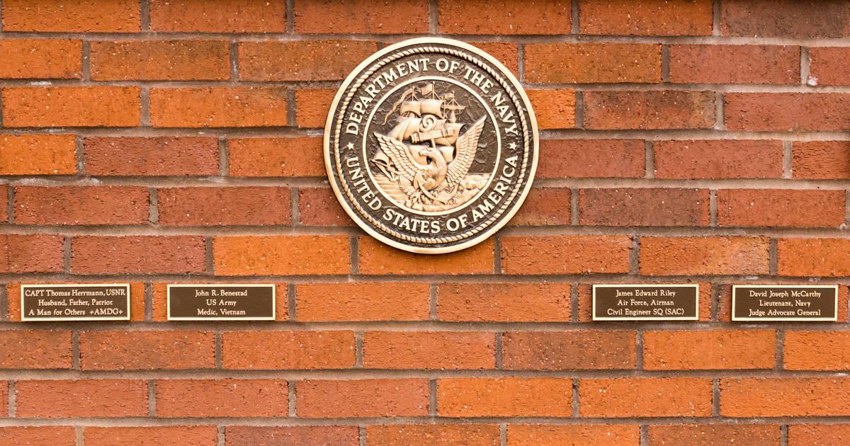 Military Memorial Wall Dedication - Navy