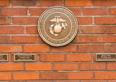 Military Memorial Wall Dedication - Marine