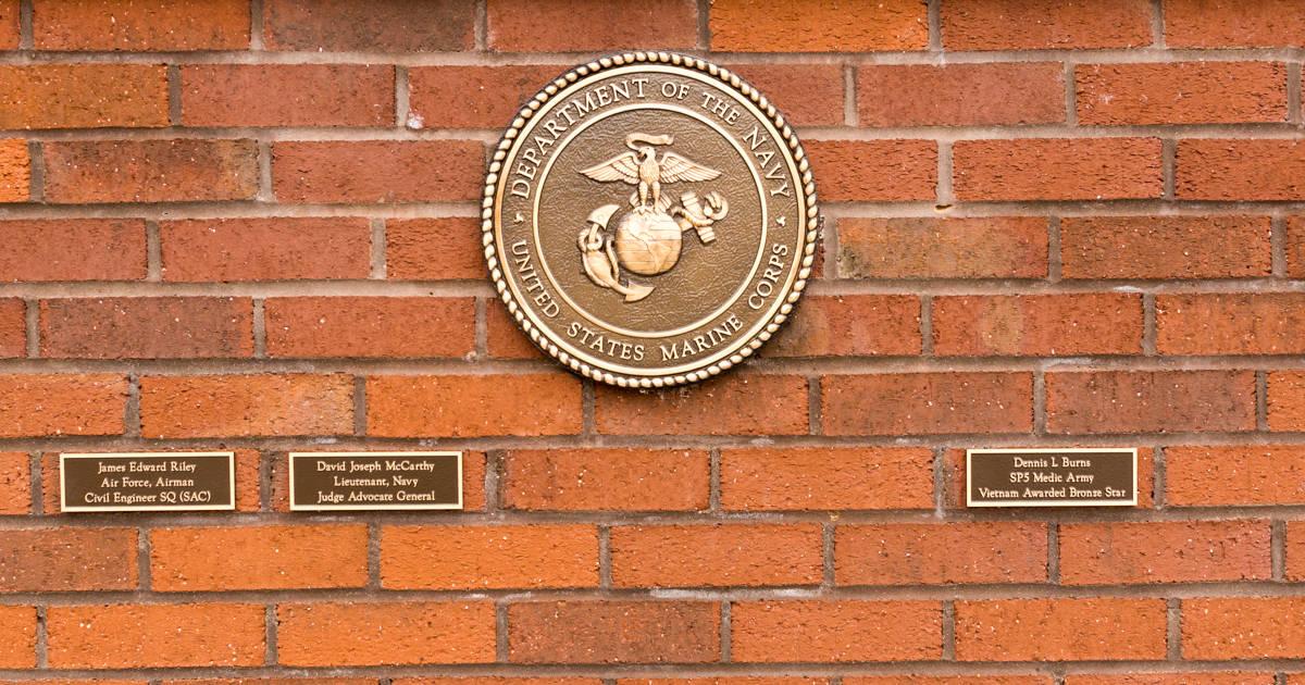 Military Memorial Wall Dedication - Marine