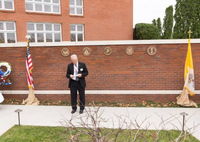Military Memorial Wall Dedication - Knights Speaker