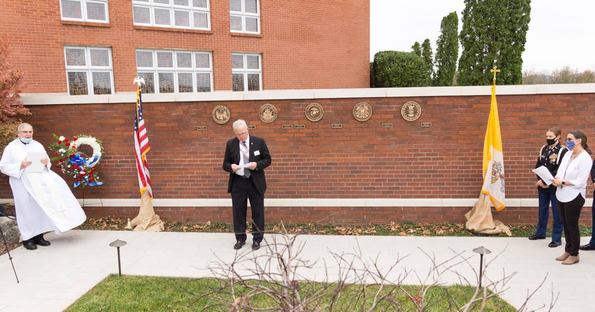 Military Memorial Wall Dedication - Knights Speaker